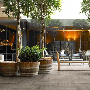 Dt20250 Outdoor Porcelain Tile Wood Effect