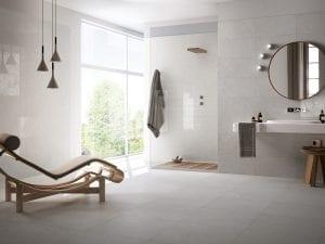 porcelain tiles in wet room