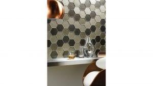 Glassworks Futura Sepia Hexagon Mosaic Gw Fshmos Portrait W Chair
