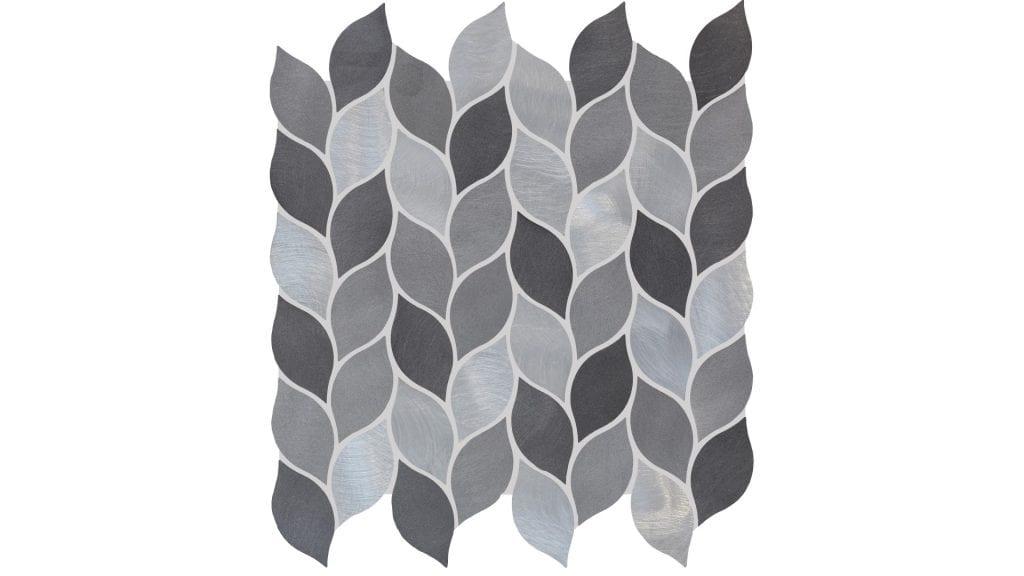 Mosaics Ew Sglmos Leaf Mosaic Silver Mix 275 x 280 x 9mm
