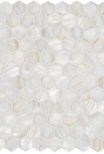 Mosaics Ew Wphexmos White Pearl Hexagon 285 x 295mm